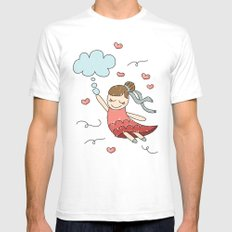 Flying dreams Mens Fitted Tee White SMALL