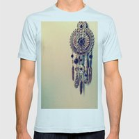 CatchingDreams Mens Fitted Tee Light Blue SMALL