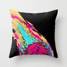 dinosaur asteroid Throw Pillow