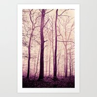 purple trees Art Print