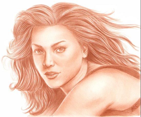 Woman Portrait 3 Art Print