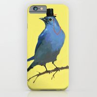iPhone & iPod Case featuring A Dapper Bluebird by Julia Marshall