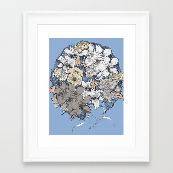 INSIGHT BLOOM Framed Art Print