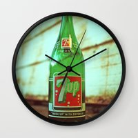 Nostalgic 7up bottle Wall Clock