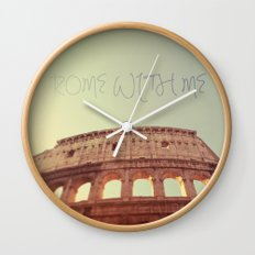 Rome With Me Wall Clock