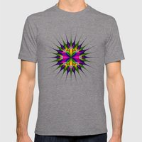 Circular Pattern Mens Fitted Tee Tri-Grey SMALL