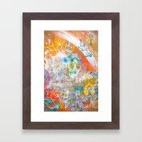 Collage de Mudra Framed Art Print