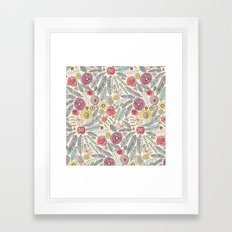 feather fleur watercolor Framed Art Print