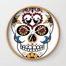 Mexican Sugar Skull Wall Clock
