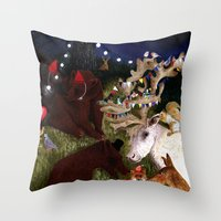 Woodland Critters Christ… Throw Pillow