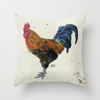 Rooster Harlow Throw Pillow