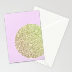 Detailed circle, gold rose Stationery Cards