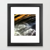 Water dragon Framed Art Print
