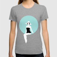 Girl #5 Womens Fitted Tee Tri-Grey SMALL