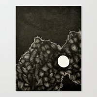 I was enraged when it said the world was ending Canvas Print