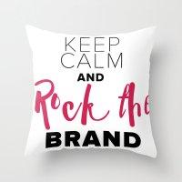 Rock The Brand Throw Pillow