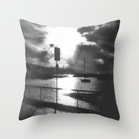 Morning Awakes The Harbo… Throw Pillow