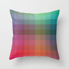 Rainbow Squares Throw Pillow
