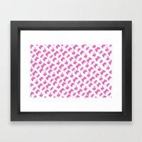 Gamer  - Pink on White Framed Art Print