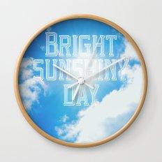 Bright Sunshiny day  Wall Clock