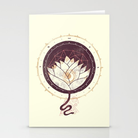 Lotus Stationery Card