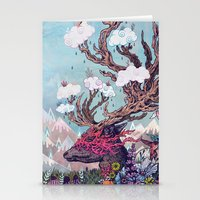deer Stationery Cards featuring Journeying Spirit (deer) by Mat Miller