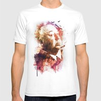 ALFRED HITCHCOCK Mens Fitted Tee White SMALL