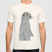 Otter Mens Fitted Tee Natural SMALL
