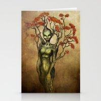 Crimson Dryad Stationery Cards