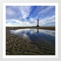Lighthouse Squared Art Print
