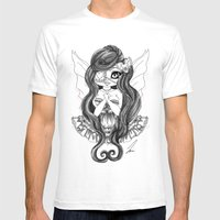 Valentina B/W Mens Fitted Tee White SMALL