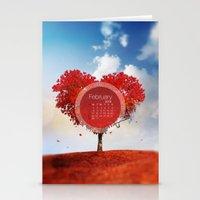 FEBRUARY CALENDAR  Stationery Cards
