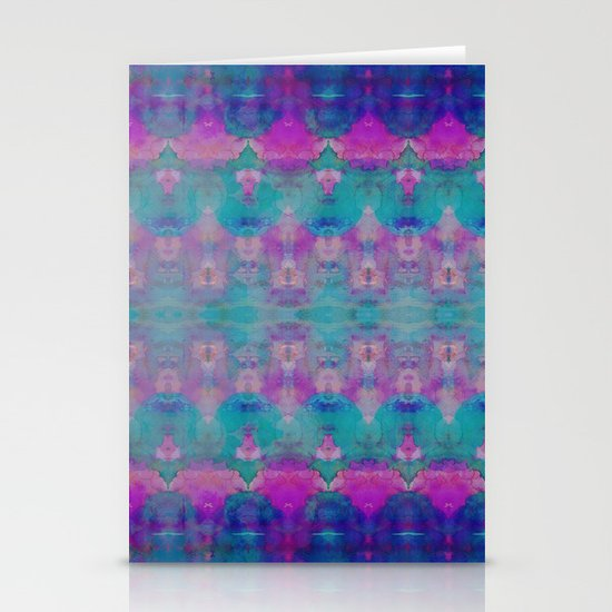 Watercolour Tribal Pink Stationery Card