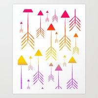 Always on the Rise (summer arrows) Art Print