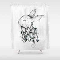 Poetic Rabbit Shower Curtain