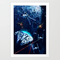 Star Wars Death Star Att… Art Print