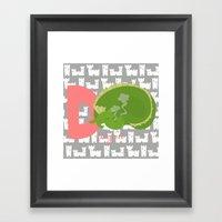 D For Dragon Framed Art Print