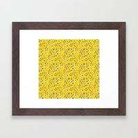 Yellow Flora Framed Art Print