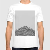 CitySkyline (Grey) Mens Fitted Tee White SMALL