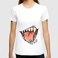 HUNGER Womens Fitted Tee White SMALL