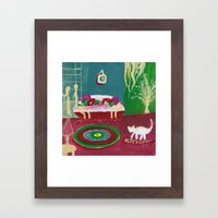 the king of the house Framed Art Print