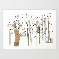 the last forest Art Print
