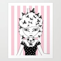 Lady CriCri Art Print