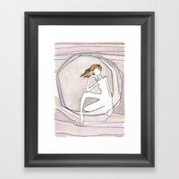 She Lives on the Moon Framed Art Print