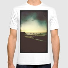 Sun Shadow SMALL White Mens Fitted Tee