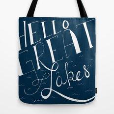 Hello Great Lakes Tote Bag
