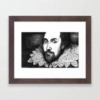 William Shakespeare Port… Framed Art Print