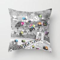 Locals Only - Heidelberg… Throw Pillow