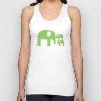 Green Elephants Unisex Tank Top