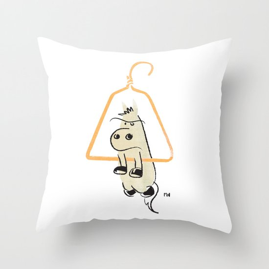 Hung Like a Horse Throw Pillow